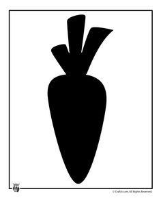 Carrot clipart silhouette De easter Pinterest Dibujo for