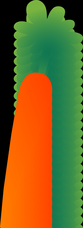 Carrot clipart single vegetable Green Carrot Stem Orange Carrot