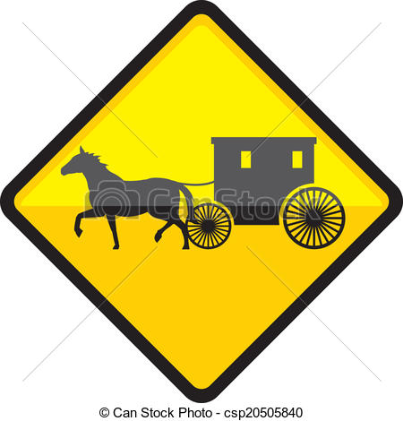 Cart clipart amish  Sign eps Vector Sign