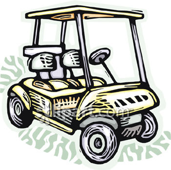 Cart clipart animated  Clipart Golf Cart clipart