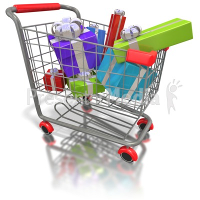 Cart clipart animated  Presents Shopping Art Shopping