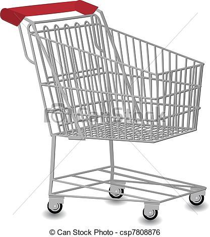 Cart clipart art Csp7808876 Clip Shopping cart cart
