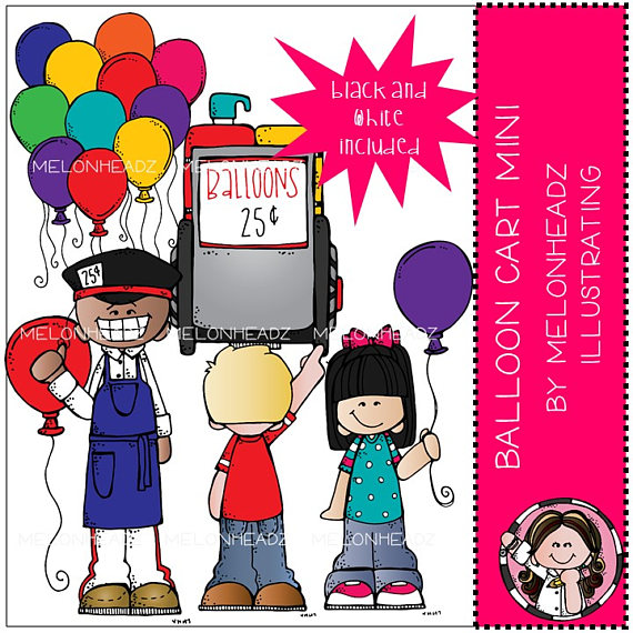 Cart clipart balloon Mini Balloon art Mini Balloon