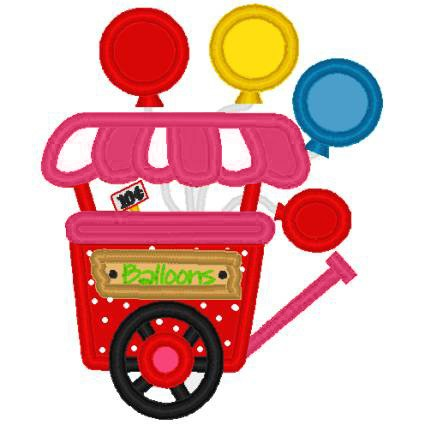 Cart clipart balloon Carnival Like CART machine applique