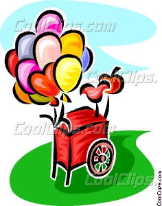 Cart clipart balloon Balloon art balloon cart Clip