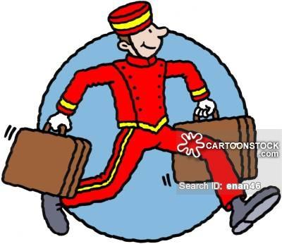 Cart clipart bellhop CartoonStock Comics cartoon of funny