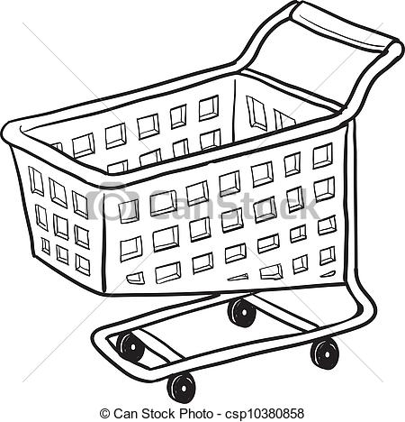 Cart clipart black and white Of cart  vector style