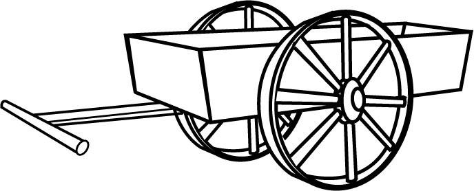 Cart clipart black and white Clipart – Cart Art Art