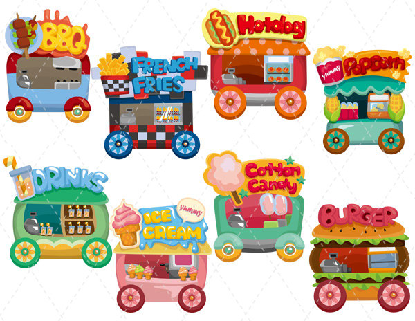 Cart clipart carnival Carnival stand · Zone Beverage