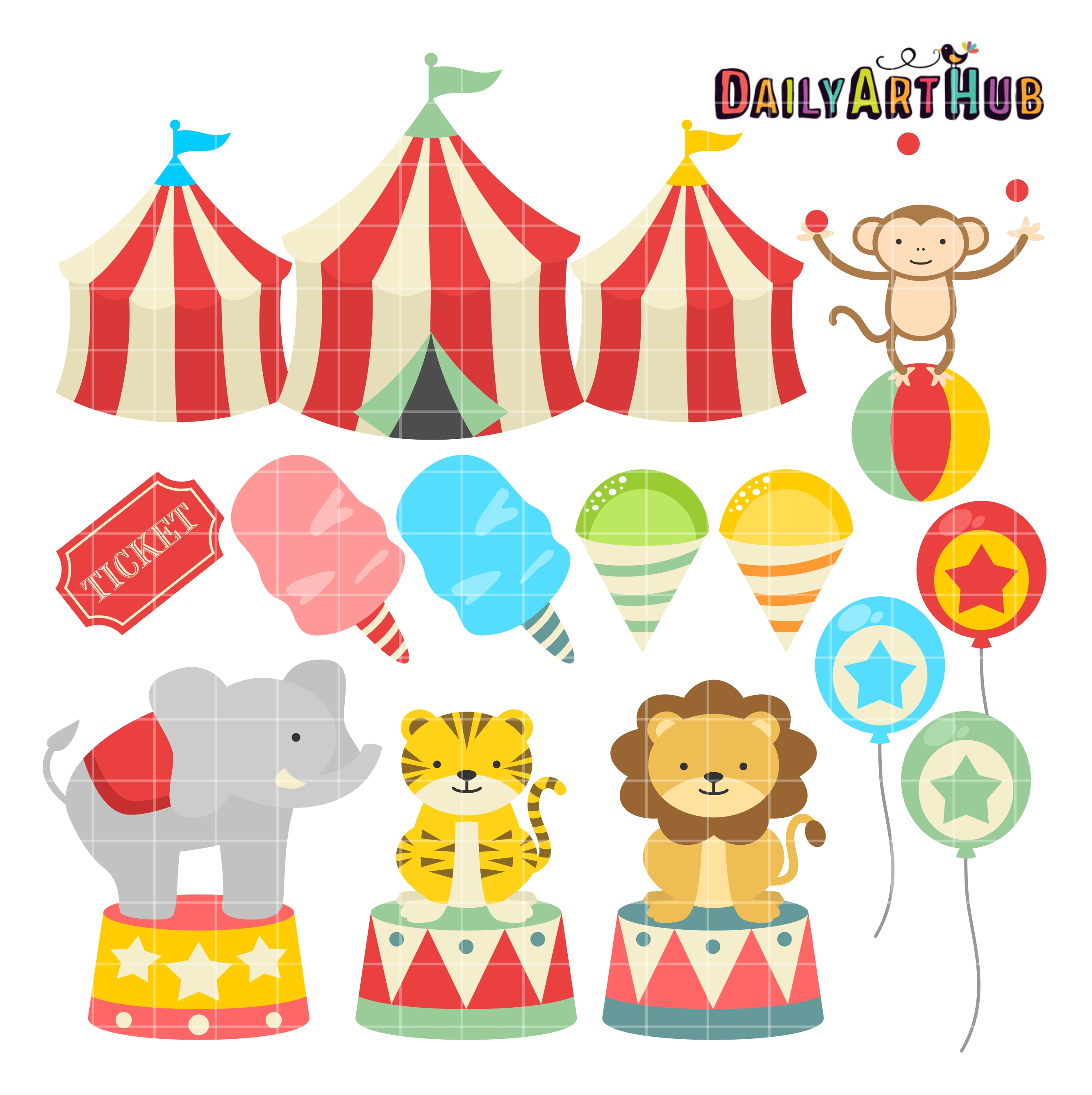 Tiiger clipart carnival #14