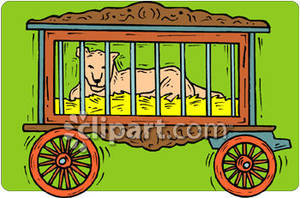 Cart clipart circus Royalty Picture Free Royalty Wagon