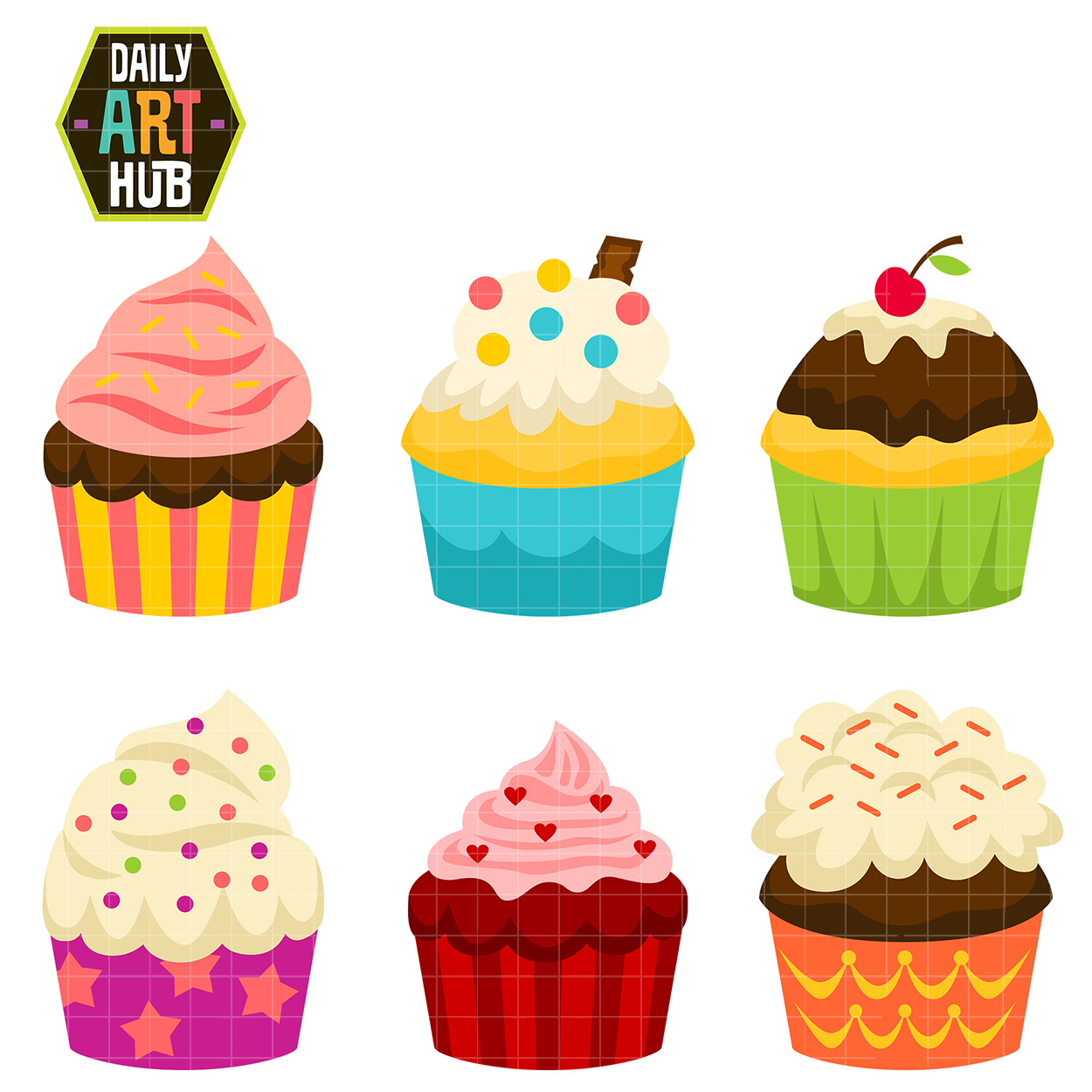 Cart clipart cupcake Daily Hub Cup Cakes Cup