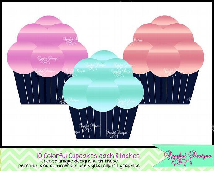 Cart clipart cupcake Digital Cupcake Cupcake art Cupcake