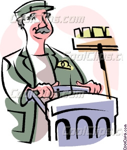 Cart clipart custodial Custodian art custodian Clip Vector