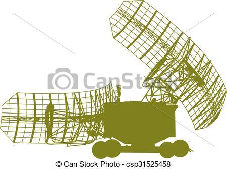 Cart clipart dish Vector military Vector radar Silhouette