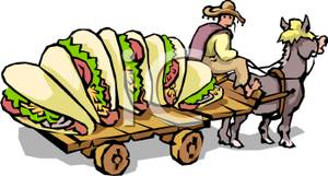 Cart clipart donkey cart Tacos a on Five on