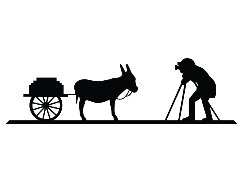 Cart clipart donkey cart Donkey by  & cart