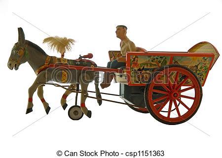 Cart clipart donkey cart Cart Stock wind vintage toy