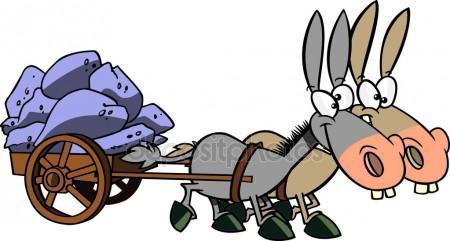 Cart clipart donkey cart Cart Stock Cartoon Donkey Illustrations