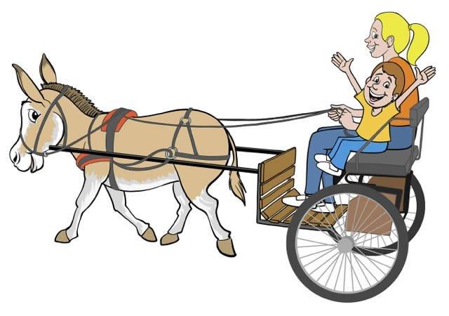 Cart clipart donkey cart Museum Donkey Friday cart This