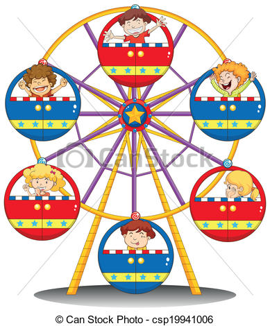 Drawn ferris wheel vintage Csp19941006 ferris Vector of Clipart