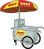 Cart clipart food booth Hot Hot Art Dog Clip