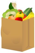 Cart clipart food shop Grocery and veg Free Healthy