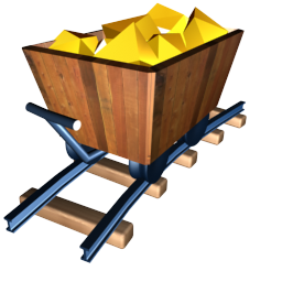 Cart clipart gold mine Icon Financial Gold Iconset mine