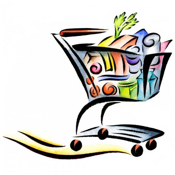 Basket clipart grocery store Art Sandy  Illustration Free