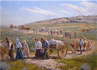Cart clipart hand cart And Free pioneers Handcart Clipart
