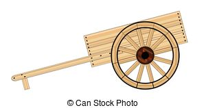 Cart clipart hand cart And Mormon Hand wooden Stock