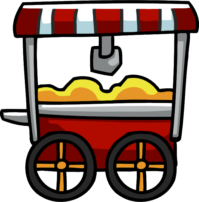 Cart clipart history By Image png Popcorn