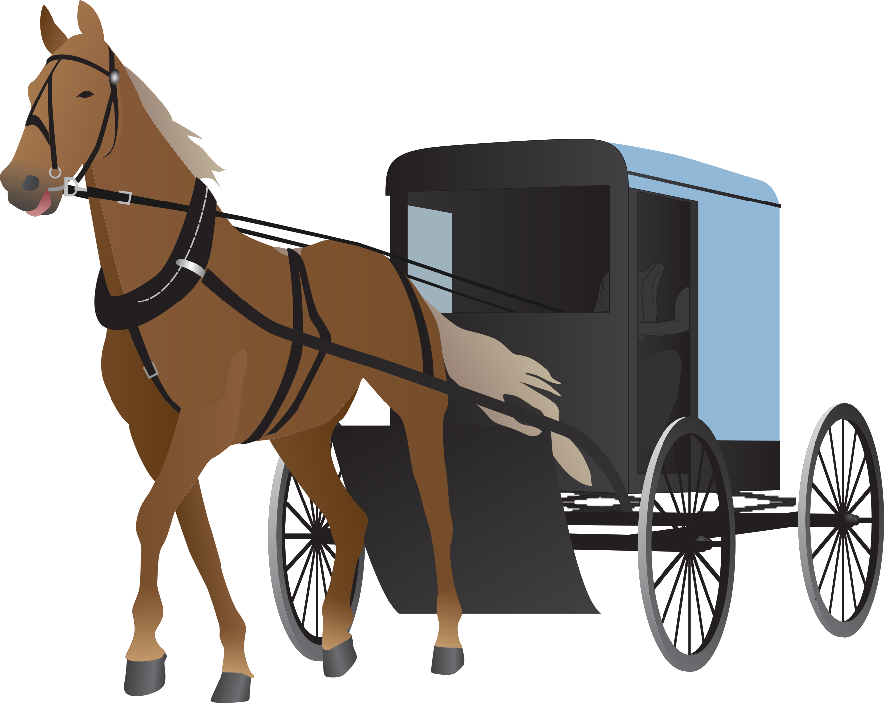 Cart clipart horse and buggy Buggy Buggy and Clipart Amish
