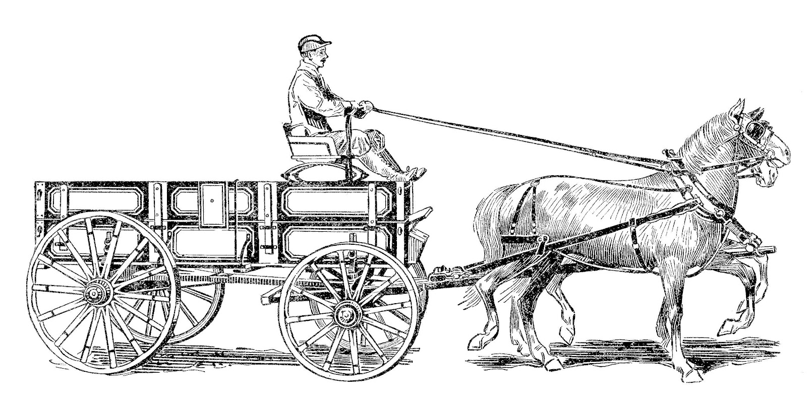 Cart clipart horse and buggy Pages 81 And And Coloring