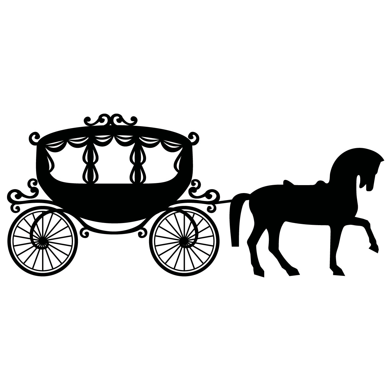 Drawn trolley camel Horse Collection and Clipart Horse