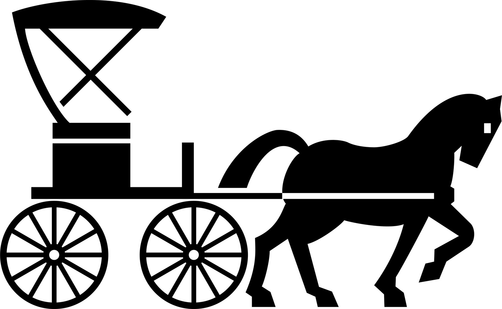 Cart clipart horse drawn wagon Etc And Horse clipart horse