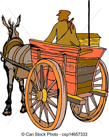 Cart clipart horse vehicle Of Vectors Search csp14657333 carriage