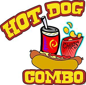 Cart clipart hot dog Sign Decal 24
