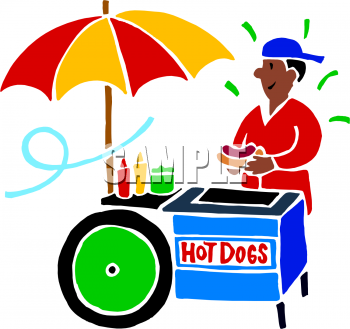 Cart clipart hot dog American Dog Vendor Picture American