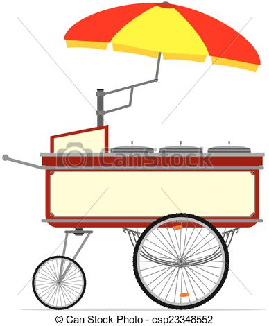 Cart clipart hot dog Hot street cart  Vectors