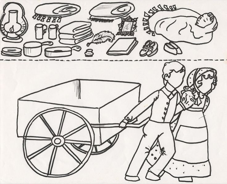 Cart clipart lds Pioneer images handcart on Search