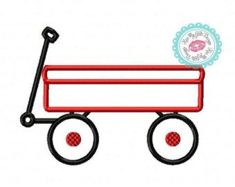 Cart clipart little red wagon Design Machine Etsy Kids wagon