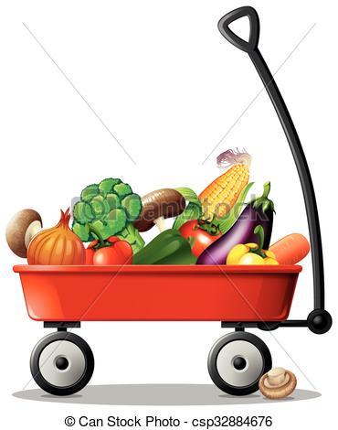 Cart clipart little red wagon Illustration wagon red Fresh in
