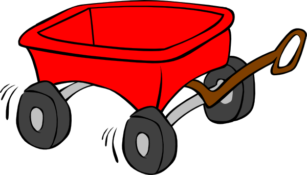 Cart clipart little red wagon Red · online Clker PNG: