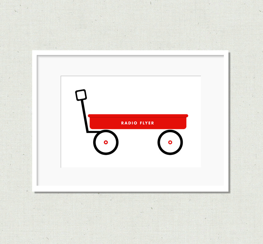 Cart clipart little red wagon Nursery wagon Red Red nursery