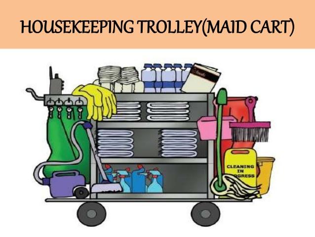 Trolley clipart housekeeping Training HK HOUSEKEEPING CART) TROLLEY(MAID
