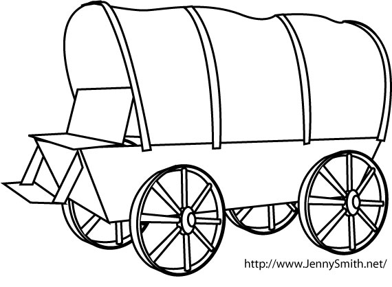 Cart clipart pioneer handcart Covered cliparts Pioneer Pioneer Wagon