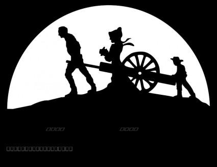 Cart clipart pioneer handcart Logo  download art trek