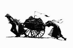 Cart clipart pioneer handcart #6861 art Clipart Clipart Handcart