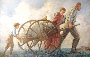 Cart clipart pioneer handcart Handcart a Clipart Handcart family